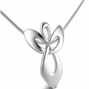 New-Guardian-Angel-Gift-Religious-Cross-White-Gold-Plated-Chain-Necklace-Pendant