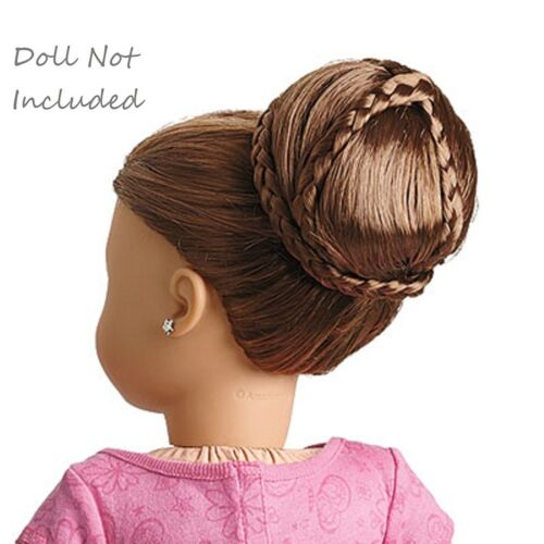 """American Girl Dos Chic Bun Brown Hair Accessory Accessories Fits 18/"""" Doll"""