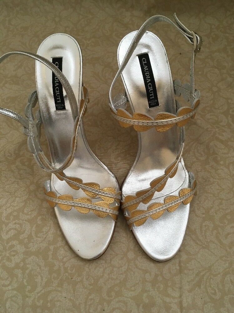 Claudia Ciuti Jaira Jaira Jaira gold Grain Lame, Women's shoes, Soze 8.5M 09f74d