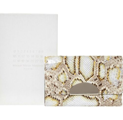 Wallet Clutch Skin Margiela Maison Leather Python Martin