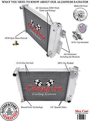 1967-1981 Pontiac Bonneville 3 Row Core Champion Cooling Aluminum Radiator