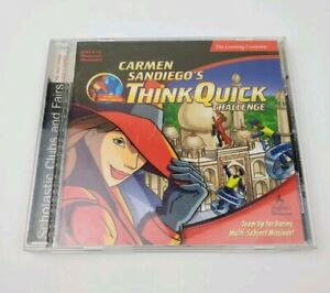 Carmen-sandiego-think-quick-1999-CD-rom-game-challenge-disk-computer-pc