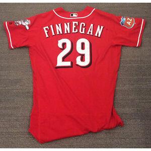 Reds brandon finnegan game used spring training jersey | eBay