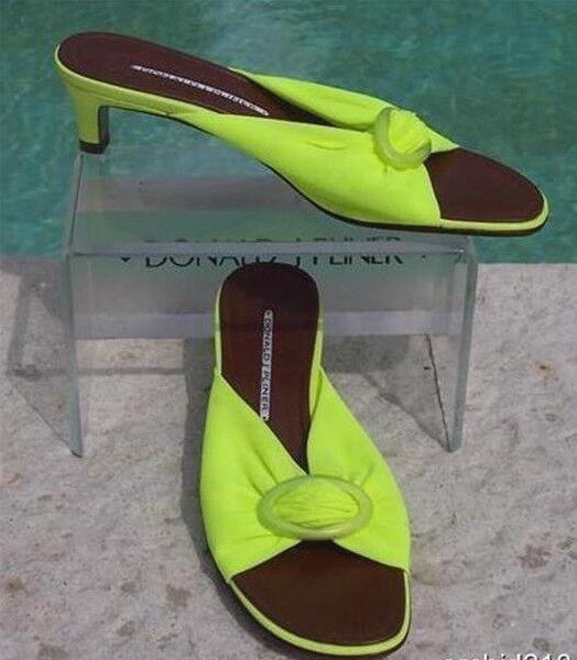 Donald Pliner HELLI Mesh Elastic Leather Slide chaussures NIB Buckle Detail 8  225