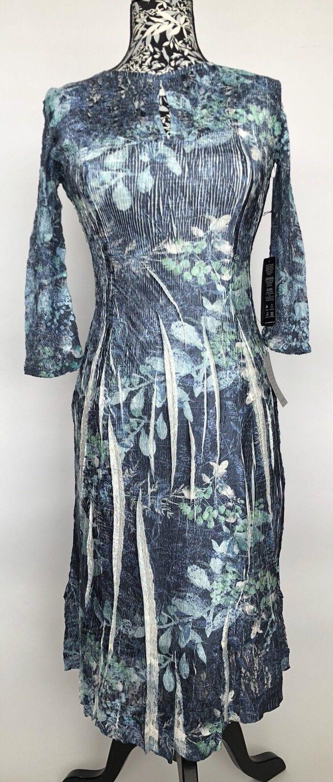 Komarov kvinnor Dress Storlek M NWT blå Lace Made in USA