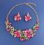 Women-Fashion-Bib-Choker-Chunk-Crystal-Statement-Necklace-Wedding-Jewelry-Set thumbnail 17