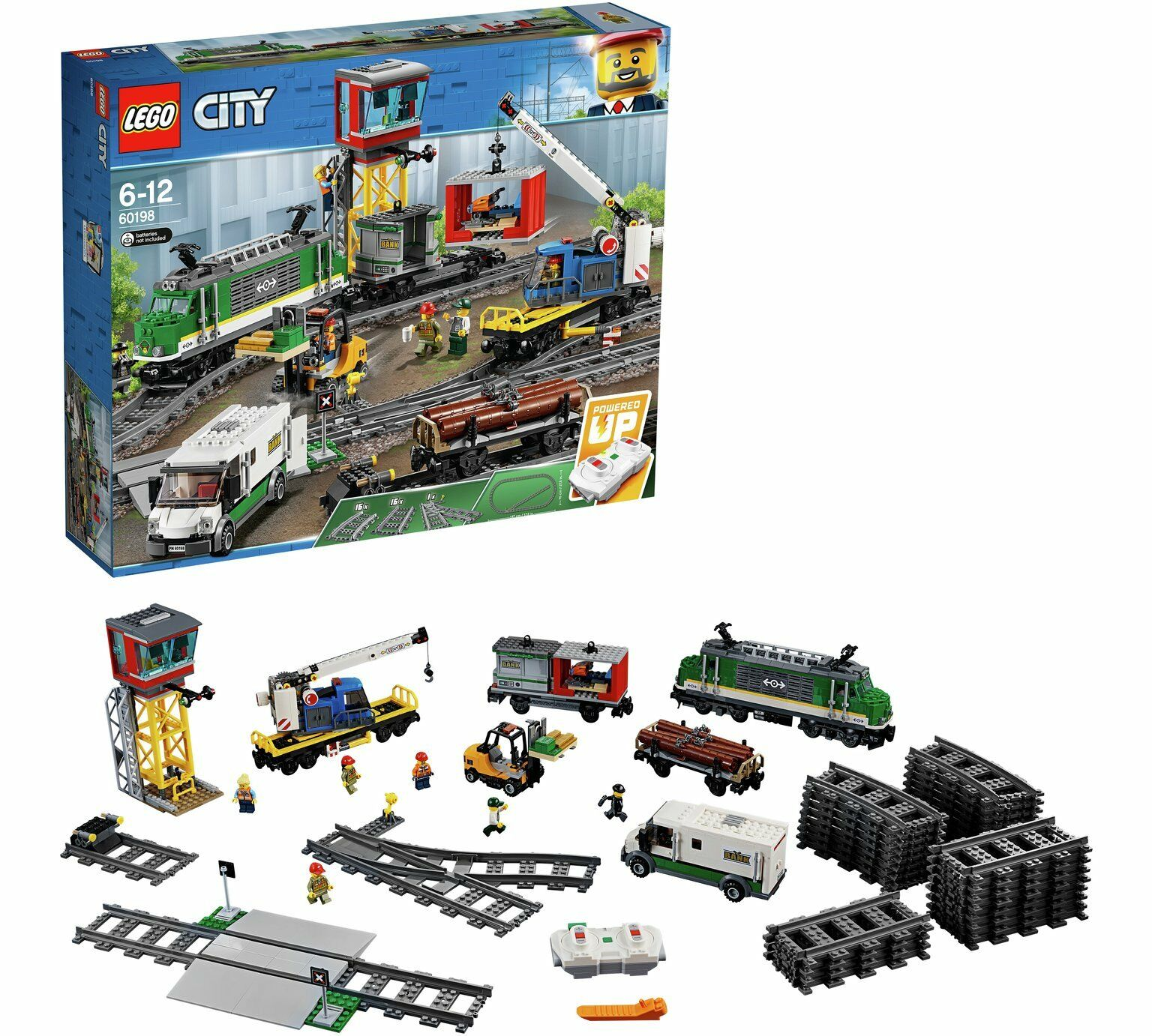Lego City Cargo Train et 6 Minifigures - 60198 - 6 Ans