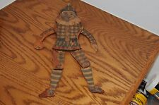 Antique Wooden German Puppet Wood With Paper Vintage Antique Old Toy Moves Neat.