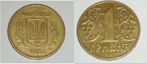 Ukraine 2001 /& 2003 1 Hryvnia 2 Uncirculated Coin Set KM8