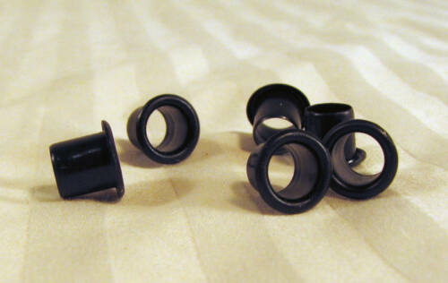 "Black-Plated 1//4/"" Vintage-Style Guitar Tuner Bushings//Ferrules 6pc"
