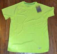 Tek Gear Short Sleeve Athletic Shirt Mens Size Small Bright Neon T-shirt Drytek