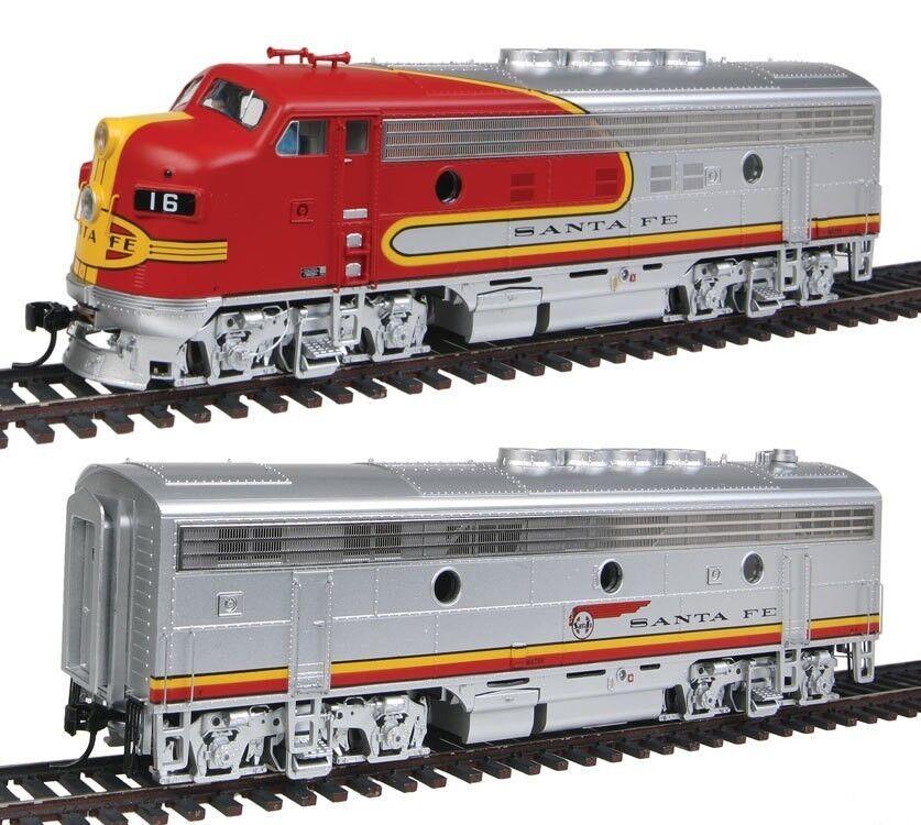 EMD F3 AB Locomotive wDCC & suono  Santa Fe  16C & 16B  Walthers  92041275