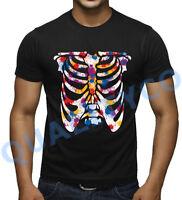 Skeleton Paintball Black T Shirt Beast Skull Biker Muscle Tee