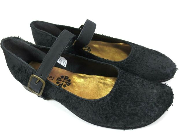 PAPUCEI italienische Leder Schuhe Spangen Ballerinas Schuhe