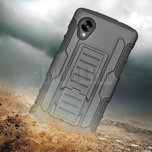 Rugged Armor Hybrid Impact Case Hard Cover Holster For Google LG Nexus 5 D820