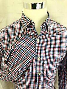 Peter-Millar-Mens-Long-Sleeve-Mult-color-Checks-XL-Shirt-Cotton