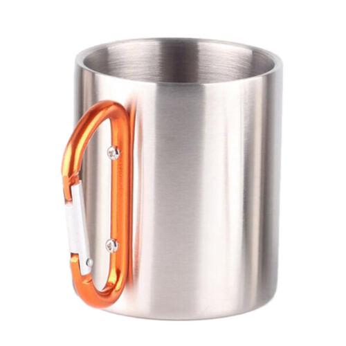10oz Stainless Steel Double Water Cup Milk Coffee Beer Mug Bar Tankard