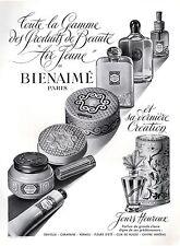 ▬► PUBLICITE ADVERTISING AD Produits de beauté Bienaimé Air jeune 1950