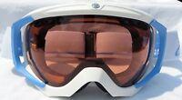 $120 Carrera Womens Otg Over Glasses Winter Snow Ski White Blue Goggles Ladies