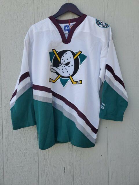Vintage Anaheim Mighty Ducks NHL  Hockey Starter Jersey Shirt Size L/XL