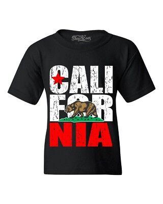1702C Cute California Bear Kid/'s T-shirt CA Cali Pride Tee for Youth