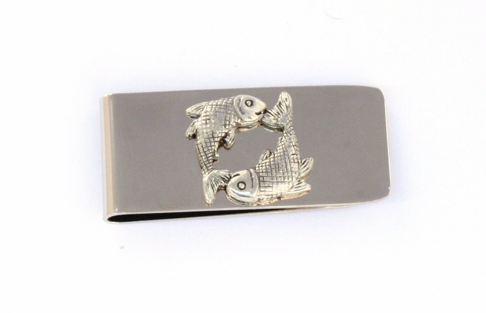 Pisces The Fish Money Clip Chrome Plated FREE ENGRAVING Star Sign 277