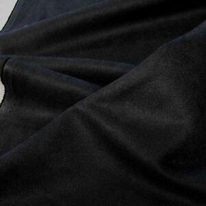 schwarz-Alcantara-Wild-Leder-Polster-Stoff-Moebel-weich-robust-Meterware-Tolko