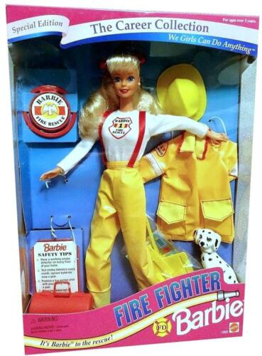 1994 The Career Collection Fire Fighter Barbie NRFB, almost MINT condition