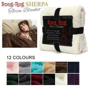 Genuine-Snug-Rug-Luxury-BLANKET-Warm-Soft-Throw-Fleece-Official-270gsm-Sherpa