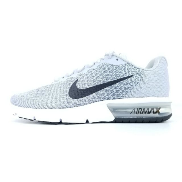 Nike Air Max Sequent 2 Men's Running Shoes Gray White Black 852461 002 Size **