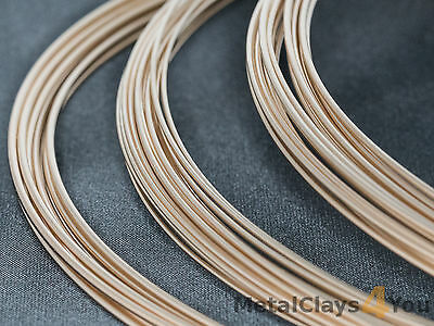 Yellow Gold-Filled Round Wire 14/20 (Half-hard) 0.4mm to 1.6mm -  Wire Craft