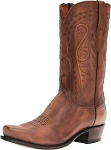 ae7b06c8dd3 Details about New Men's Lucchese N1665.73 Brandon Tan Cowhide cowboy boot