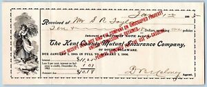 1905-KENT-COUNTY-DOVER-DELAWARE-MUTUAL-INS-CO-WOMAN-CARRYING-WHEAT-LITHOGRAPH