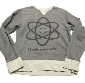 01e971ee1f Image is loading The-Hundreds-Gray-Crew-Neck-Sweatshirt-Size-Small