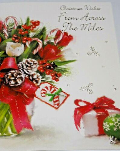 Across The Miles Christmas Card Starlight Cards. Green Bauble Theme