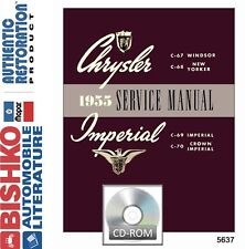 1955 Chrysler Windsor Newport Nassau Service Repair Shop Manual DVD
