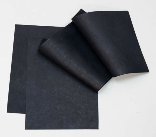 Veg Tan Sheepskin Craft Pack 4 of 20 cm x 15 cm Slate Blue .08-1.2 mm Thick.