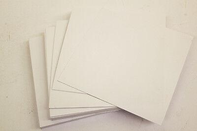"Quadrato Bianco Fogli / Bigliettini Bianchi 6 ""x 6"" 250gsm Quotidiana Craft Card Stock- Texture Chiara"