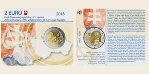 Coincard-2-euro-SLOWAKEI-2018-25-Jahrestag-der-Republik-Slowakei