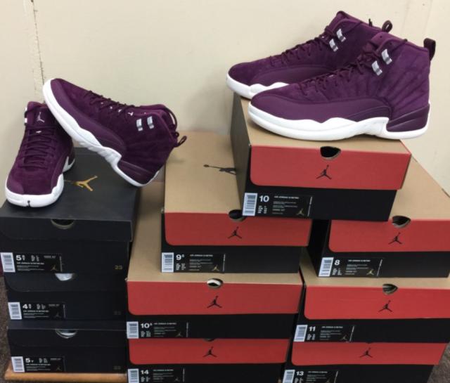 newest d4b3b 10a59 Nike Air Jordan Xii Retro 12 Bordeaux Sail White 130690-617 AUTHENTIC Size  4~15