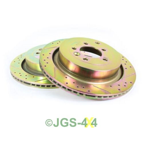 DA4614 Land Rover Discovery 3 Performance Rear Brake Disc Drilled /& Grooved x2