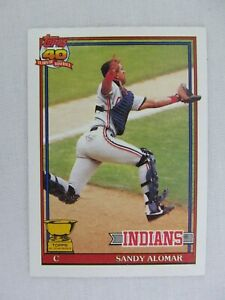 Sandy-Alomar-Cleveland-Indians-1991-Topps-Baseball-Card-165