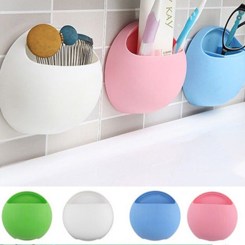 1PC Home Bathroom Toothbrush Suction Holder Rack Wall Mount Hang Stand DurableZP