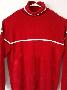 P-J-Mark-mens-sweater-red-knit-pull-over-shirt-size-2-XL-turtleneck-long-sleeve