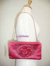 Chanel Swarovski Crystal Camellia Flower Satin Clutch Bag New $2K