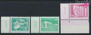 DDR-2483w-2485w-kompl-Ausg-weisses-Papier-postfrisch-1987-Aufbau-in-9233816