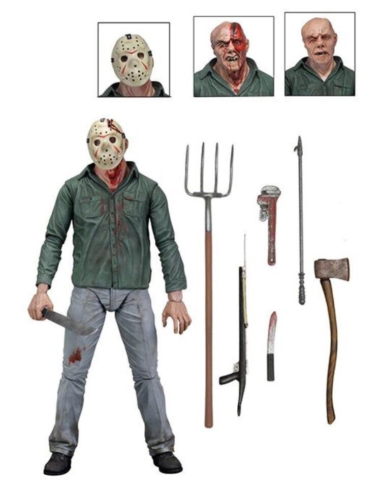 Friday The 13th Part 3 Official Ultimate Jason Figure W Accessories By NECA