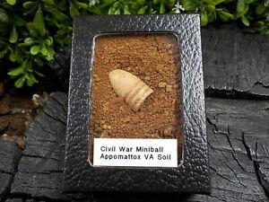 Old-Rare-Vintage-Civil-War-Miniball-in-Appomattox-Virginia-Confederate-Camp-Soil