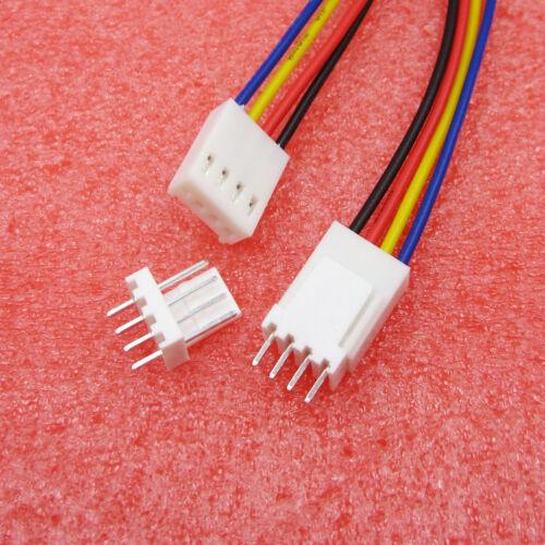 20PCS//50PCS XH2.54-4P JST 2.54mm Single Tin Header Dupont Wire Length 150mm