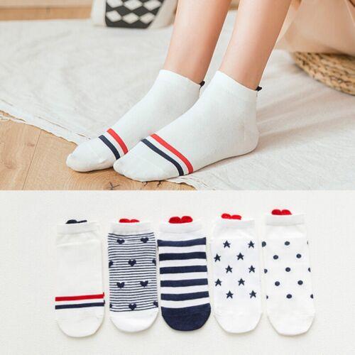 4PCS Women Men Ankle Socks Casual Work Heart-shaped Love Printed Cotton Socks